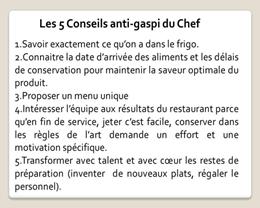 Les 5 conseils anti-gaspi du Chef